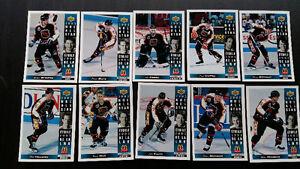 27 cartes hockey upper deck mcdo 1993 au complet