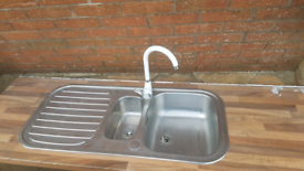 Stainless steel sink and unit