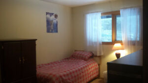 Furnished bedroom for single in Banff $695/month, available now.