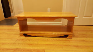 Beautiful Solid Oak Coffee Table with Lower Storage Level