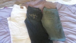 Womens Guess, Silver and AE jeans. Size 26, 27 and 4.