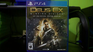 Day One Edition Deus Ex Mankind Divided - PS4! Great condition! Cambridge Kitchener Area image 2