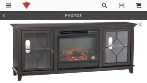 3 year old TV stand with Fireplace