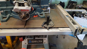 Delta Table Saw with Biesemeyer Fence Rail