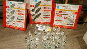 Used and new pot light bulbs LED or incadescent
