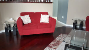 Gorgeous Couch Set w/coffee table and side tables. Needs to go!