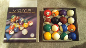 Used Excellent Condition Vigma Snooker Pool Ball Set