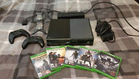 Xbox One with 5 games, 2 rechargeable controllers, kinect