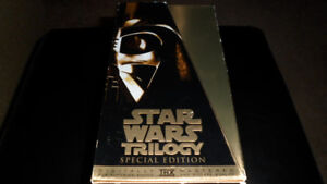 Star Wars Trilogy Special Edition 3 VHS Gold Box Set 1997