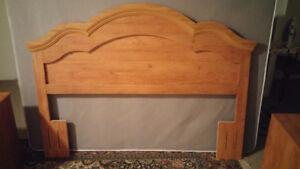 Moving sale bed headboard, box spring, night stand, etc