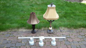 Table Lamps & Track Lights