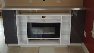 Custom Built Entertainment Center with Fireplace