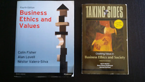 MBA textbooks for BUS 505 Ethics in Business
