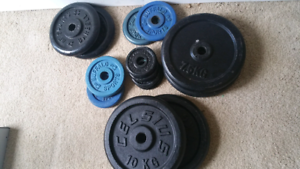 Metal Gym Weights - various sizes