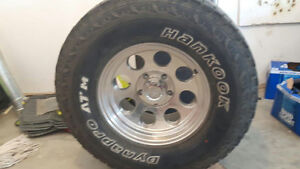 Hinton area. Tires and rims