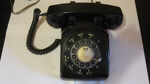 Vintage Black Rotary Phone by Northern Electric