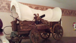 Ornament - Detailed Pioneer Wagon and  Clydesdale horses $125.00