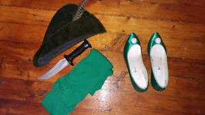 Tinkerbell costume and Peter pan accessories