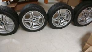 "BMW Rims with winter tires- 17"" (set of 4)"