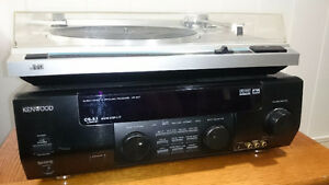 JVC Record player and Kenwood AV Receiver Windsor Region Ontario image 3