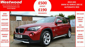 BMW X1 2.0TD AUTOMATIC sDrive20d SE DIESEL RED