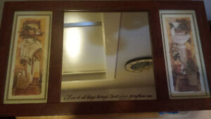 NEW BATHROOM MIRROR WITH SCRIPTURE good for 1/2 baths