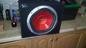 Speaker, sub, sony xplod in box