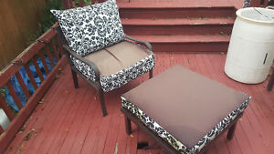 Patio chair and Ottoman