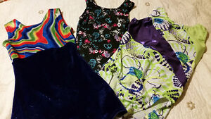 3 Gymnastics outfits. Approx youth size 10