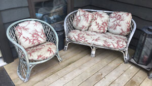 Wicker deck set