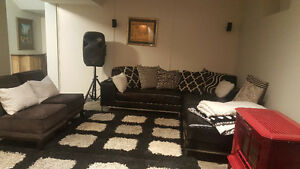 Executive Basement Suite furnished with new furniture for rent