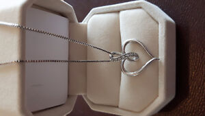 925 necklace with heart & infinity pendant
