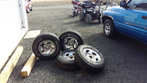 4 16 inch crome rims and tires