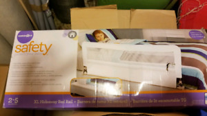Hideaway bed rail for toddlers