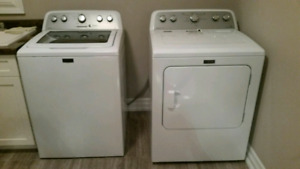 Maytag Top Load Washer and Front Load Drier