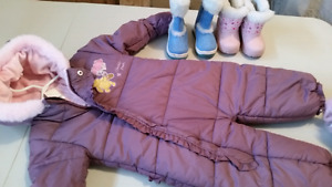 12-18 months girl snowsuit used