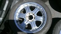 chrome 20 rims after market and tire good condition