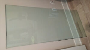 "Glass table Top 24"" x 56"" beveled edge"