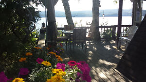 Waterfront July Vacation LAKEside! Memphremagog w/ Hot Tub