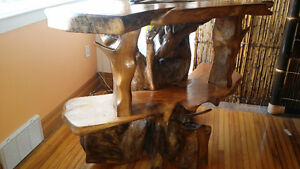 One of a kind exotic   wood carved tv stand Kingston Kingston Area image 4
