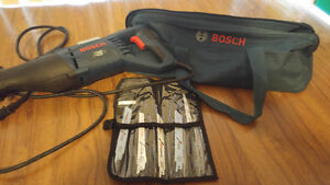 11 amp Bosch SawzAll 10blades and case $95 OBO ($200 Value)