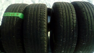 Four Good Year Fortera 255 65 18 M+S tires
