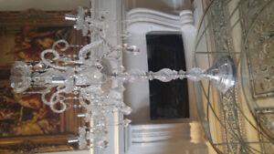 One of s kind Crystal  Candelabra
