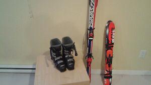 2 paires de ski alpin et 1 paire de bottes