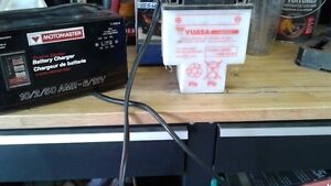 m/c battery and air filter