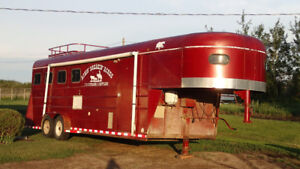 1995 Horse trailer/toy hauler  With living quarters