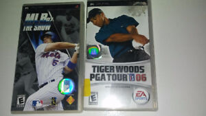 TIGER WOODS PGA TOURS 06 et MLB 07 THE SHOW