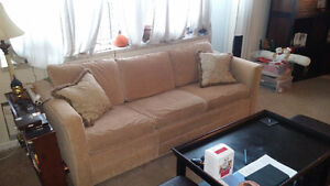 BEIGE BARRYMORE COUCH- EXCELLENT CONDITION