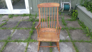 Antique Primitive Pine Rocking Chair Porch