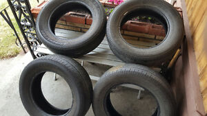 4 winter tires with steel rims and 4 all season tires